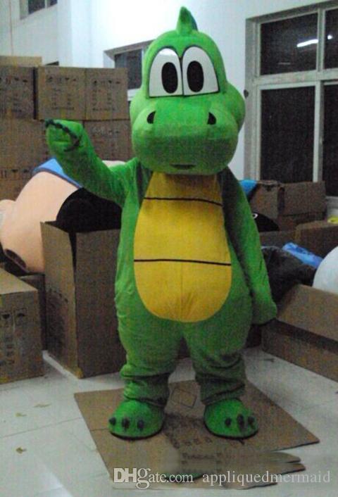 Nuovo stile Green Dragon Dinosaur costume della mascotte costume Mascotte per adulti regalo per Halloween Carnival party