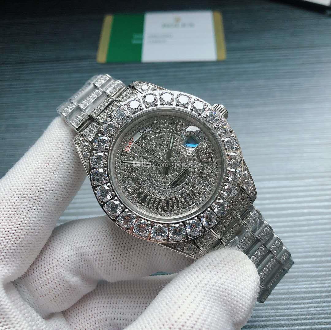 SJ Production Luxury Diamond Watch Роскошные Мужские Часы Дизайнер Часы Мужские Часы Diamond Часы Автоматические механические Часы