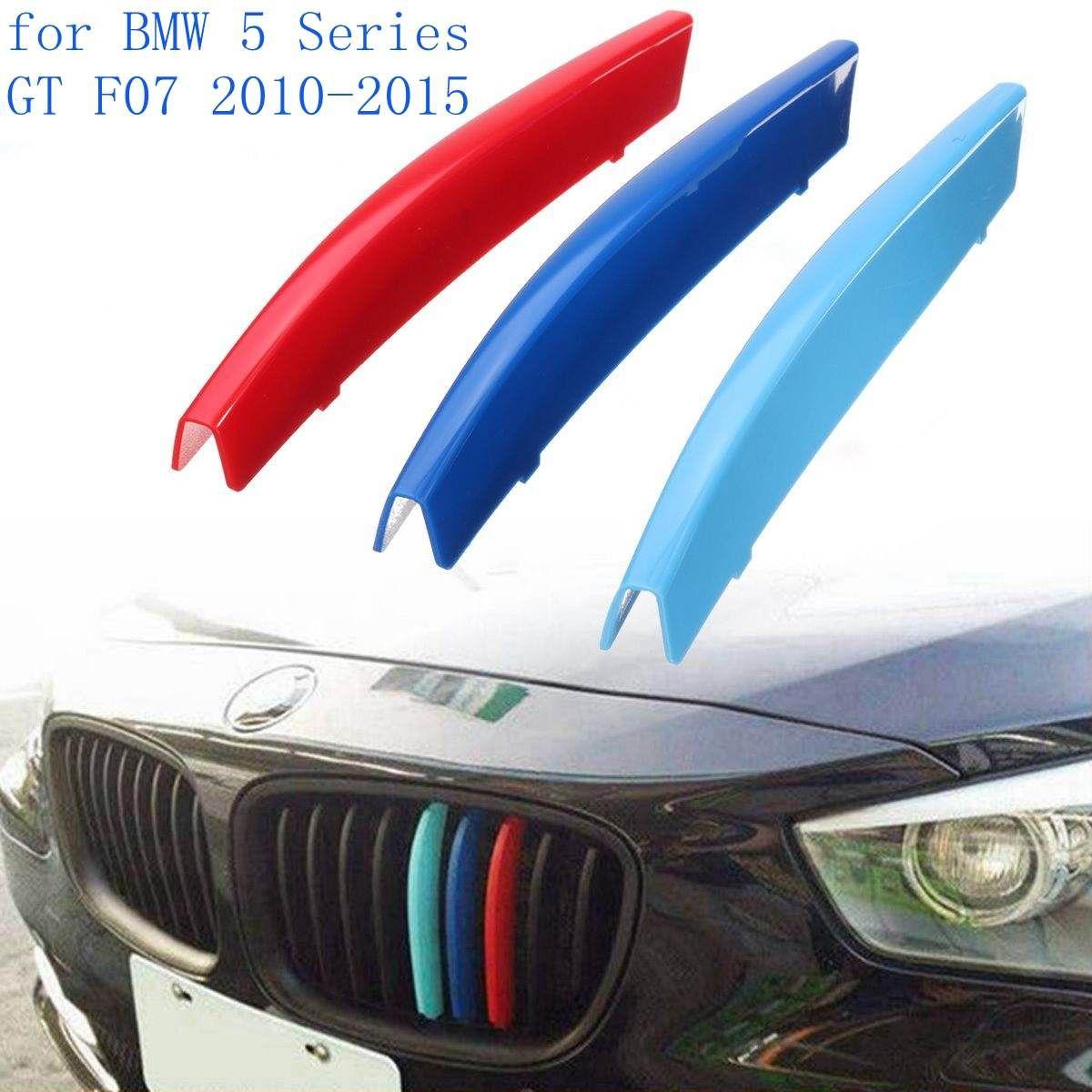 3 stücke Auto Frontgrill Abdeckung Trim Aufkleber Streifen DIY Dekoration Für BMW 5 Serie GT F07 2010-2015
