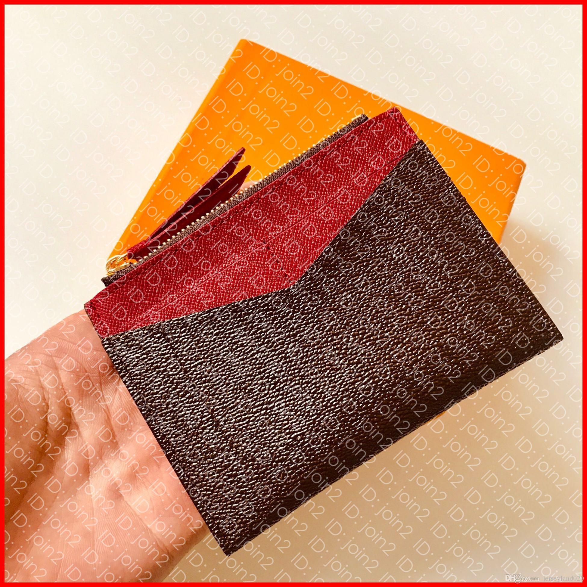 M62257 حامل بطاقة مضغوطة مصمم أزياء المرأة مضغوط حامل حامل البطاقة عملة محفظة الفاخرة مفتاح محفظة فاتورة الحقيبة العلامة التجارية معرف حالة مصغرة pochette