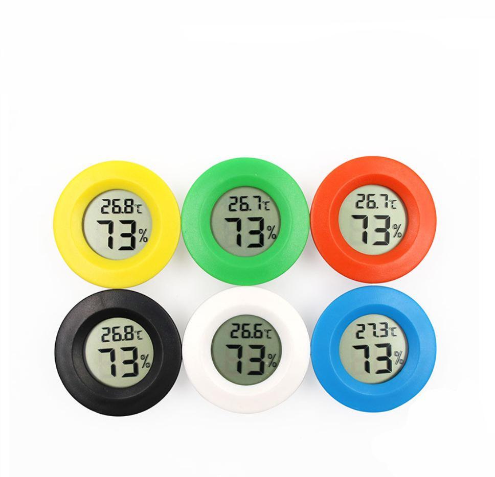 Mini rotonda a cristalli liquidi Digital del termometro del congelatore di frigorifero del tester di umidità di temperatura del tester del rivelatore di casa Di misura VT0171