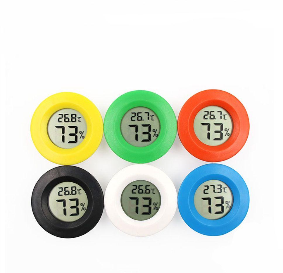 Mini Termómetro Digital LCD Ronda Higrómetro Higrómetro Frigorífico Congelador Temperatura Temperatura Humedad Medidor Detector Herramienta de medición de la casa VT0171