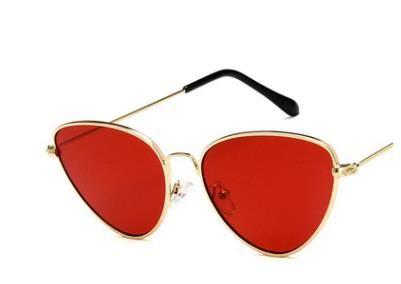 Moda europea y americana nuevo metal Ojo de gato Gafas de sol personalidad oceano Lentes Gafas de sol Fashion Boutique Gafas de sol