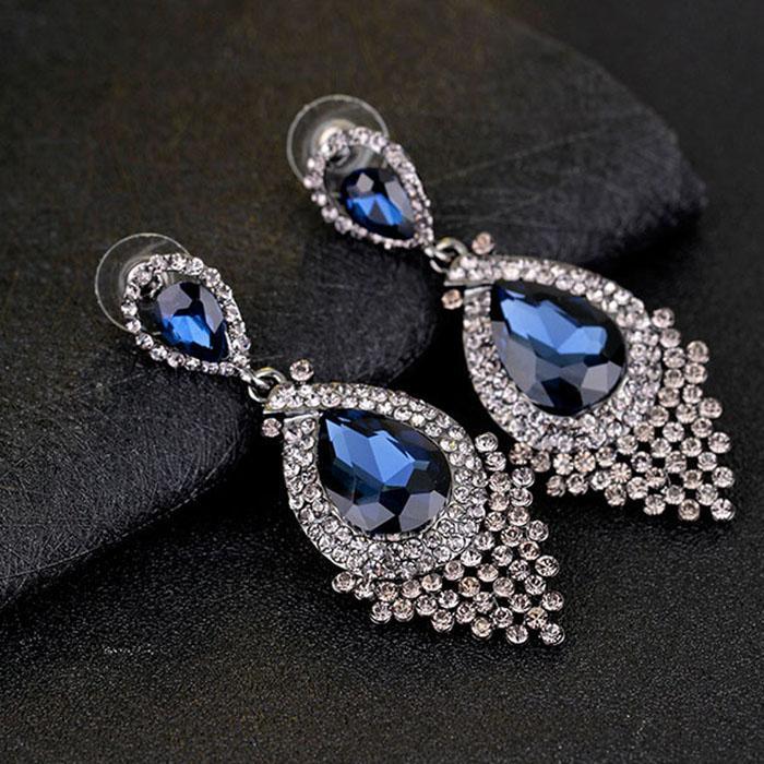 Crystal Diamond Earrings Studs Dangle Ear rings Wedding Fashion Jewelry for women Will and Sandy