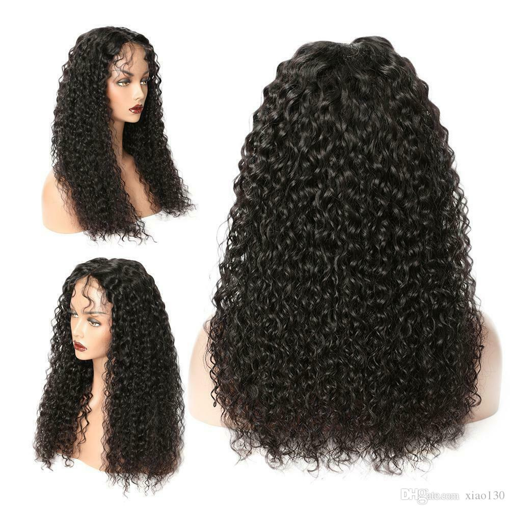Long Spiral Curls Ombre Black Mix Lace Front