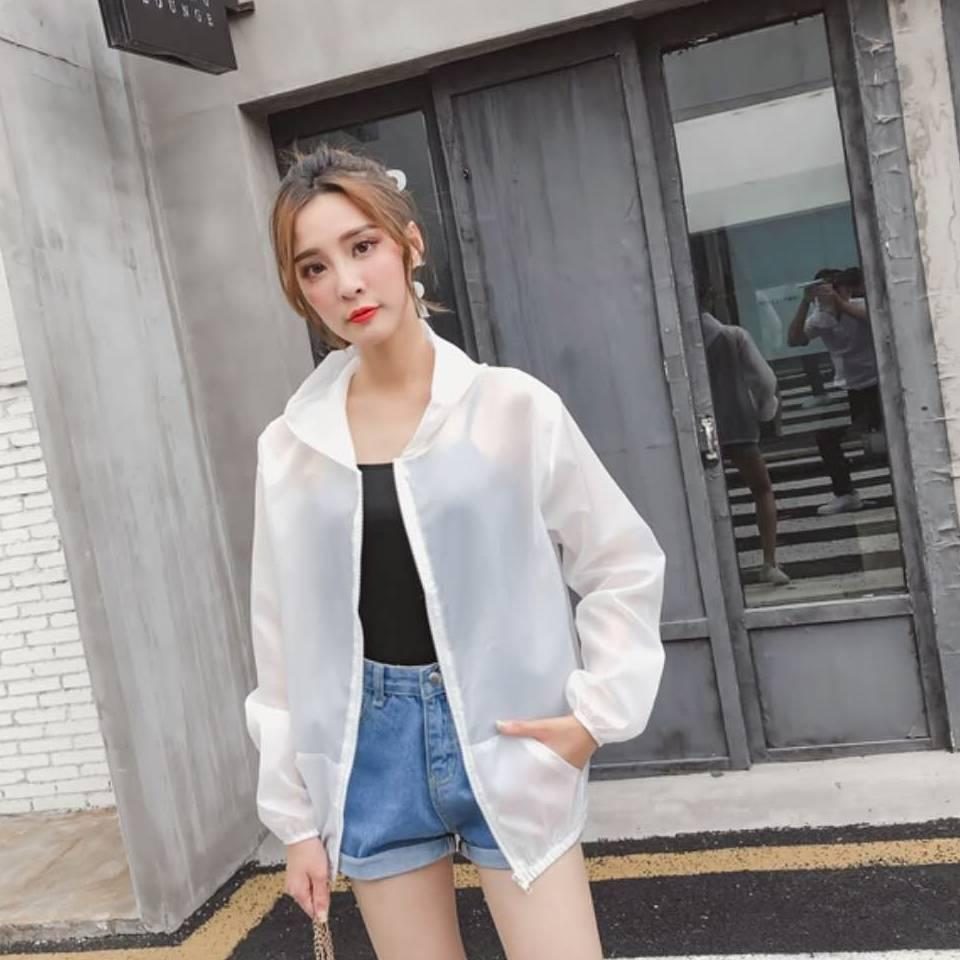 Womens Designer Sun Veste coréenne Summer Slim Respirant Séchage rapide Protection solaire extérieure Vêtements Solide Couleur Hauts Translucide