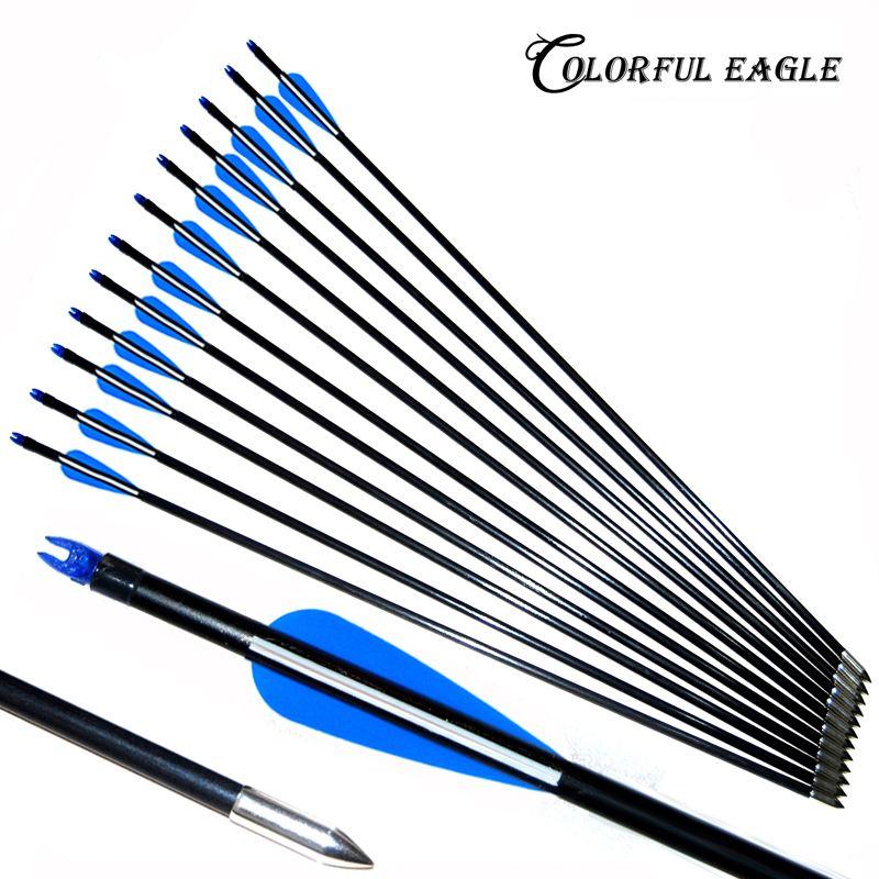 "10 Fibreglass  Archery Arrows 28/"" Field Tip  Field /& Target broadhead compatible"