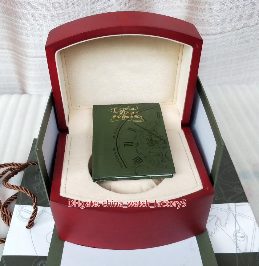 أوراق صندوق حار بيع عالية الجودة AP رويال اوك في الخارج ووتش الأصل الأحمر صناديق الخشب اليد لل15400 15710 15703 CAL.3120 3126 الساعات