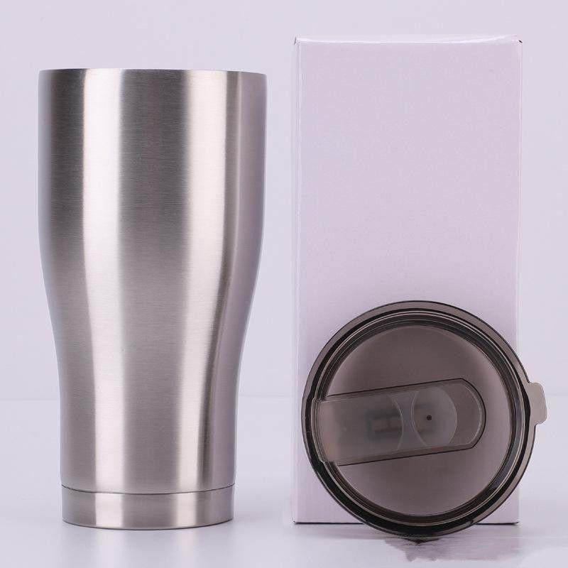 Kavisli Tumblers Bel Şekli Su Bardak Seyahat Kupa Kahve Bira Bardağı Paslanmaz Çelik Su Şişesi 12 oz Klasik Bardak Kapaklı Costom Tasarım