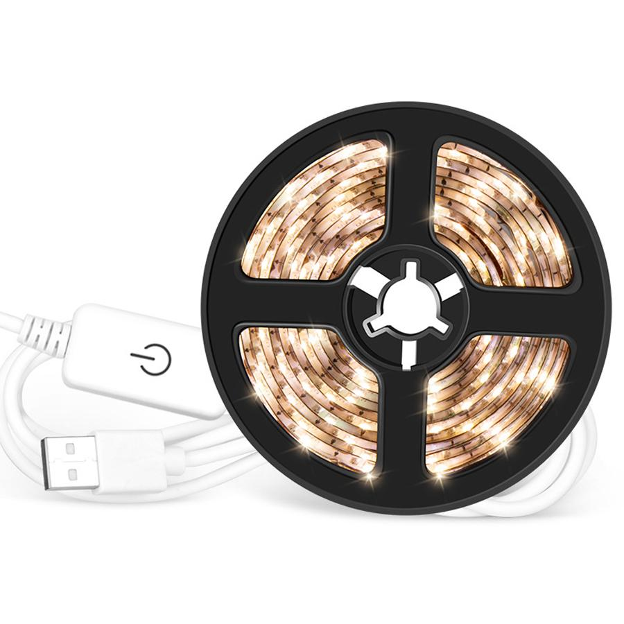 DC 5V USB Touch Dimming LED Strip 60leds per meter Decorative Light Strips Waterproof Adhesive Tape 0.5M 1M 2M 3M 4M 5M