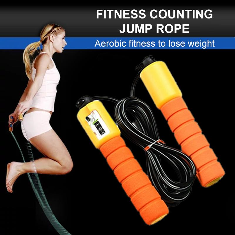 Grid Wholesale Adjustable Skipping Jump Jumping High Speed Rope With Counter Number Sports Fitness Exercise Workout Gym Calorie