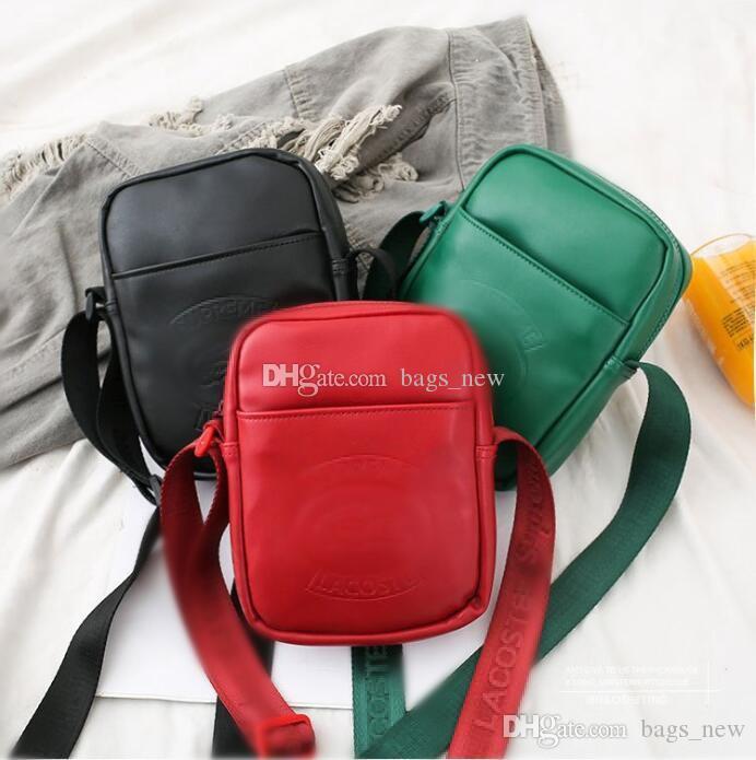 Marca coccodrillo borse a spalla pacco petto Moda Borse singolo zaino nero della vita Belt Bag Red Moda Uomo Messenger Bags di trasporto