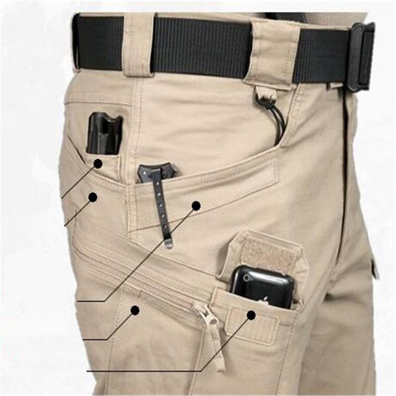 Brave Men Cargo Pants Spring Autumn Archon Europe US Russia Cotton Blend Brown Green Pockets Firm Sewing Cool