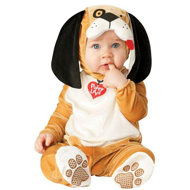 طفل عيد الميلاد هالوين تأثيري حلي القرد الأسد الكلب بذلة الفتيان الفتيات الملابس مجموعة أطفال وتتسابق