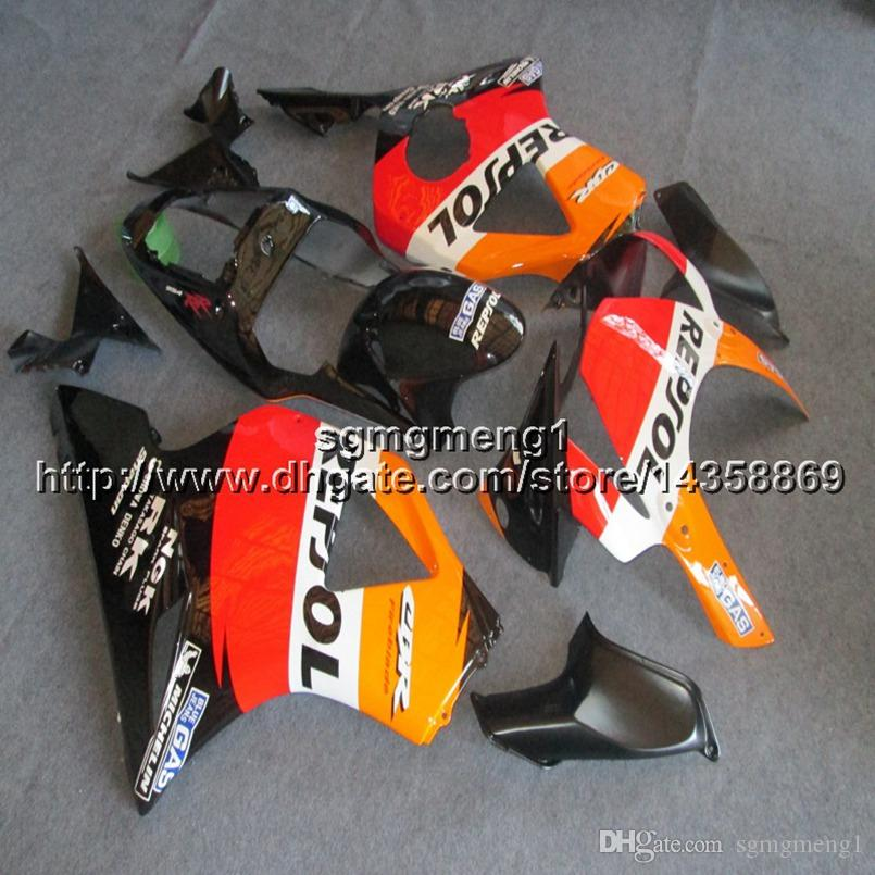 23colors+Screws repsol orange motorcycle panels Body Kit for HONDA CBR954RR 2002 2003 CBR 954 RR 02 03 ABS motor Fairing