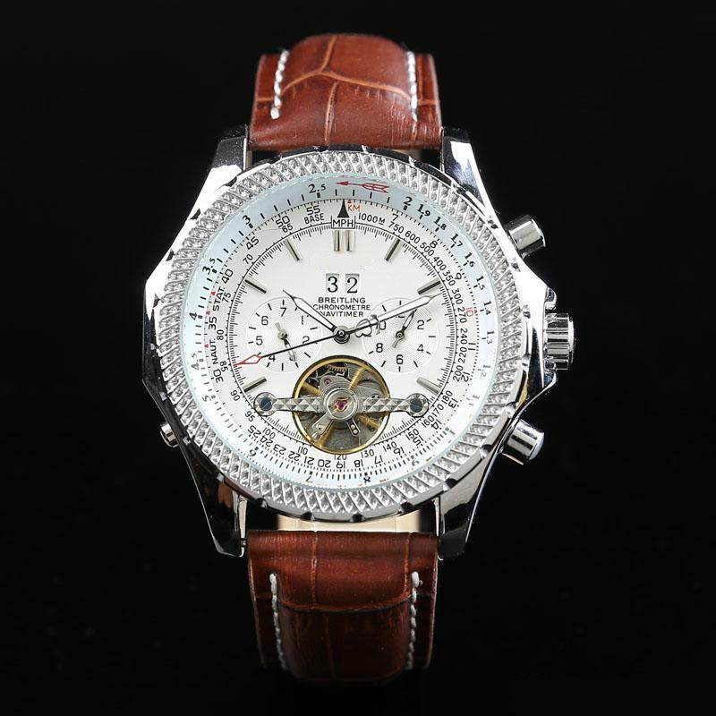 Brietling мужские часы автоматические часы знаменитый календарь бренд моды 43мм лицо водонепроницаемый механические часы хорошее качество