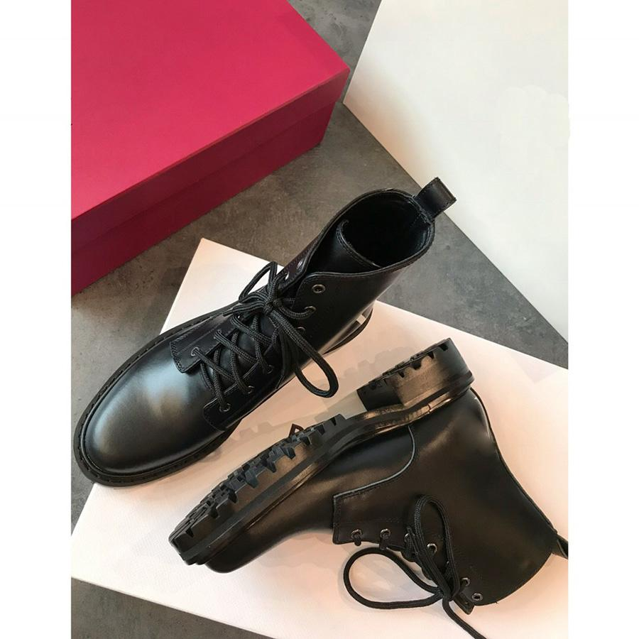 Sıcak Satış-Yeni 2019 V Yüksek Kalite Bayanlar Lüks Tasarımcı 3.5cm hakiki inek derisi Deri Kadın Martin Boots Damla Nakliye Sizes35-40