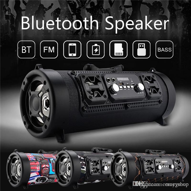 CH-M17 portátil 15W Big Poder Speaker Bluetooth Wireless Outdoor Cool Graffiti Hip hop Estilo Subwoofer Suporte Mic TF / Play Music