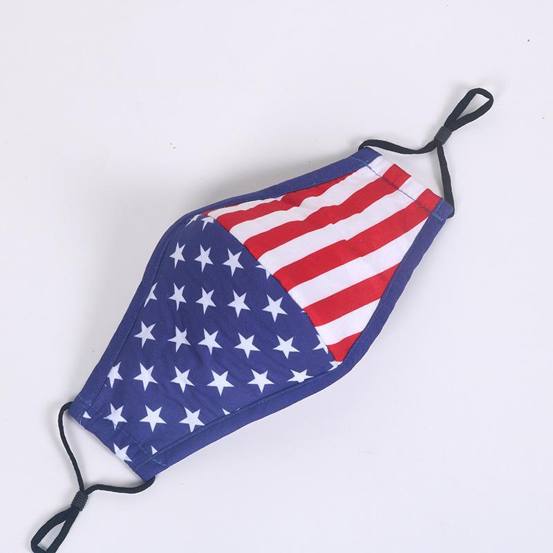 Stok Amerikan Bayrağı Unisex Karikatür Köpekbalığı Yıkanabilir Yüz In Solunum Ağız-mufla Yeniden kullanılabilir Yüz Kamuflaj Bisiklet Ücretsiz Gemi Maskesi Maskesi