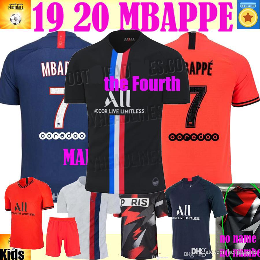 2020 19 20 Psg Fourth Mbappe Soccer Jersey 2019 2020 Paris Marquinhos Gana Jersey Camisetas Football Kit Champions Shirt Men Kids Sets From Heijuanma 13 49 Dhgate Com