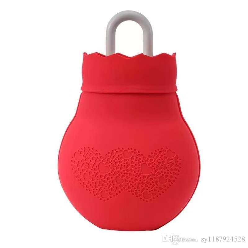 Hot sale Mini multi color hot water bag explosion-proof water injection easy cleaning silicone hot water bag warm hand gift multi color