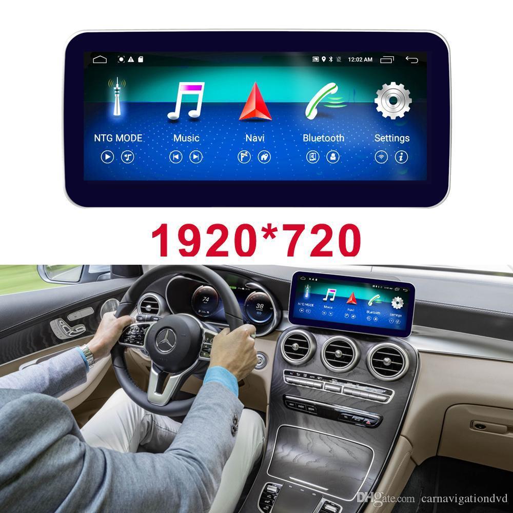 """10.25 """"شاشة تعمل باللمس الروبوت GPS للملاحة ستيريو راديو لاعب اندفاعة الوسائط المتعددة لمرسيدس بنز C فئة S205 سيارة W205 GLC 2014-2019"""