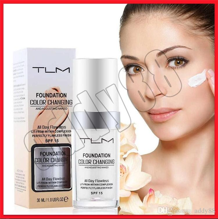Face Makeup TLM Flawless Colour Changing Foundation Cream 30ML Makeup Change Skin Tone Concealer By Just Blending free shipping