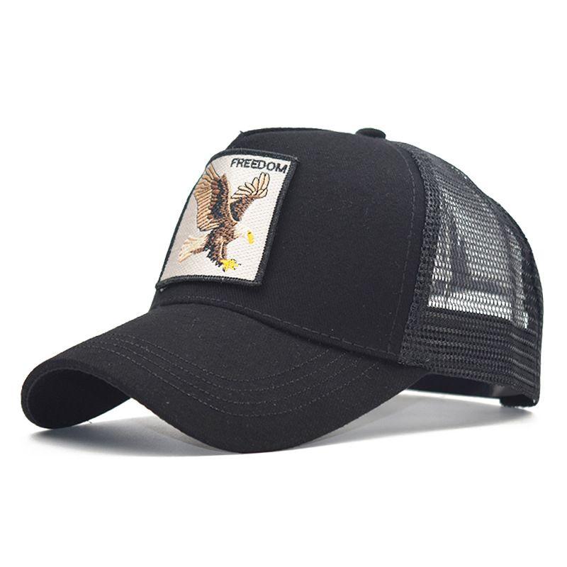 yeni moda hayvan nakış şapka beyzbol şapkası erkek ve kadın şapka hip-hop hip-hop kapağı 01 örgü 2020 yaz