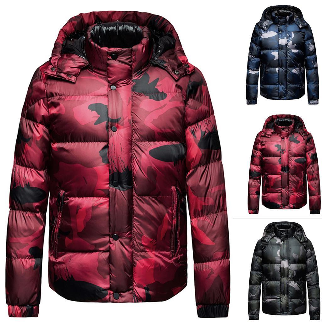 2019 nouveaux hommes d'hiver Sweats à capuche zippé chaud Survêtement Casual manches longues Outwear manteau à capuchon chaud Dropshipping 20 Parka