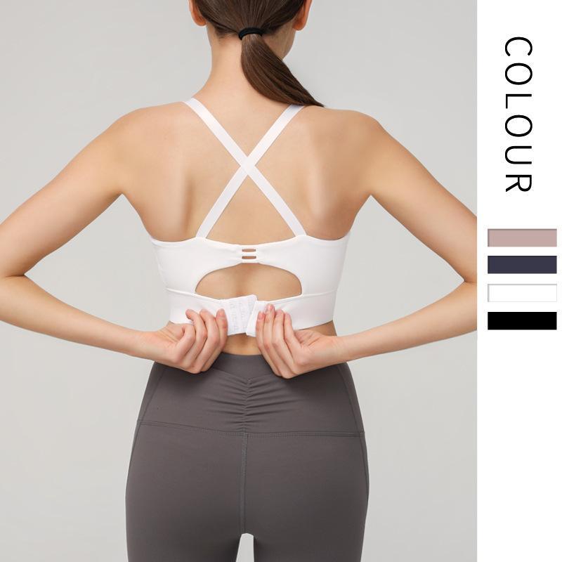 Lu35 Sport Yoga Sujetador Culturismo Hermoso Brastro Bras Mujer Afile Ropa interior Atheltic Chalt Gym OEM Marca logo