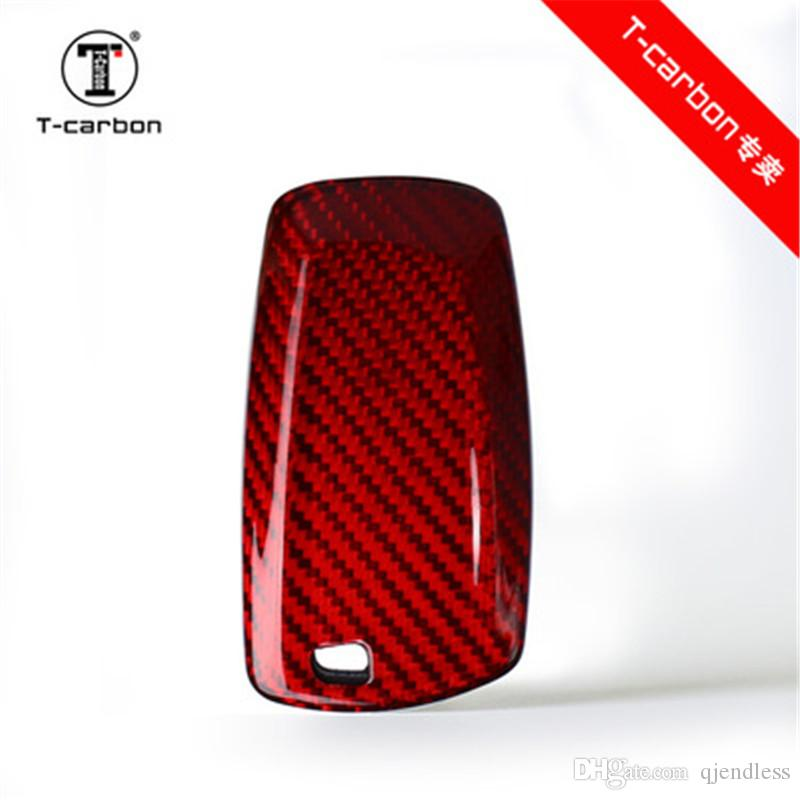 100% Carbon Fiber Car Key Case For BMW 1 2 3 4 5 6 7 Series X1 X3 X4 X5 X6  F30 F34 F10 F07 F20 G30 F15 F16 Car Key Cover Ignition Keys Key A Car From