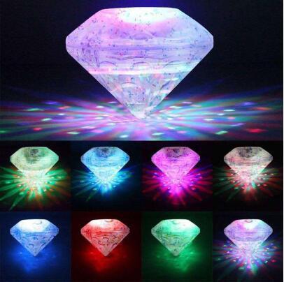 RGB 부동 수중 LED 디스코 빛 발광 표시 수영장 연못 온수 욕조 스파 램프 방수 야외 파티 장식 라이트