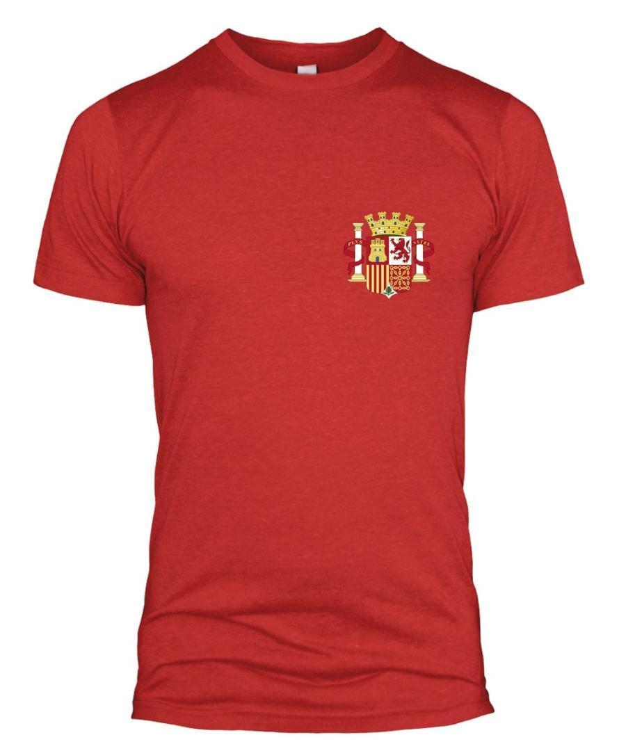 موضة 2018 للرجال قصيرة الأكمام التي شيرت اسبانيا ريترو لاعب T قميص شارة الرجال النساء الأطفال الإسبانية 2018Funny طباعة تي شيرت