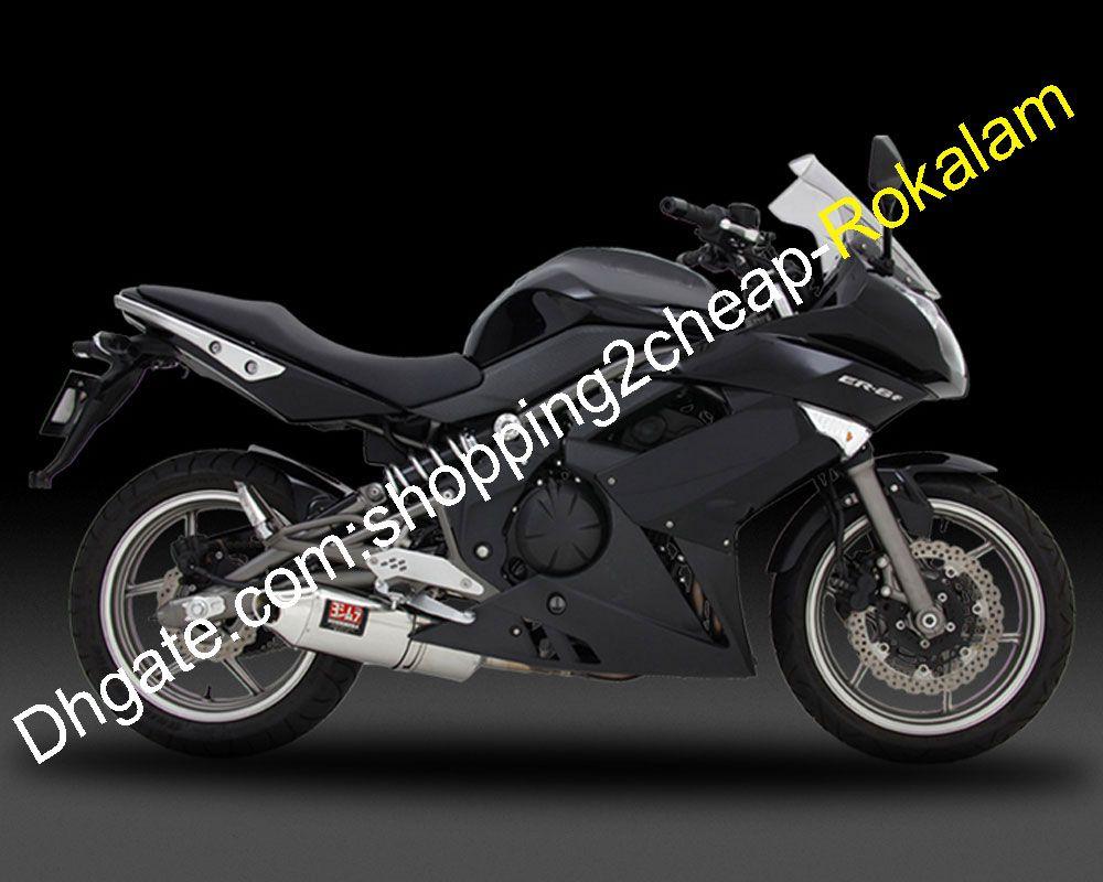ER6F 09-11 ABS Black Caréning for Kawasaki Motorcycles ER-6F NINJA 650R ER 6F 2009 2012 2011 CAROWORCIERS Résultats de la route