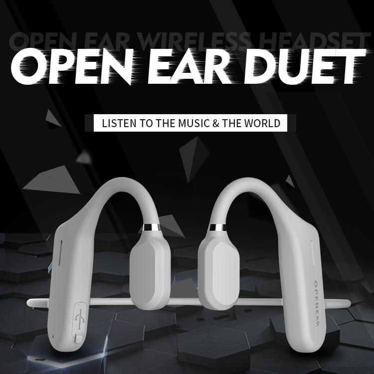Bluetooth Kulaklıklar Kemik İletimi Un-In-Kulak veya Aşırı Kulak Kulaklık Kablosuz Stereo Kulaklık Sweatproof Spor Bandı Su Geçirmez Mic