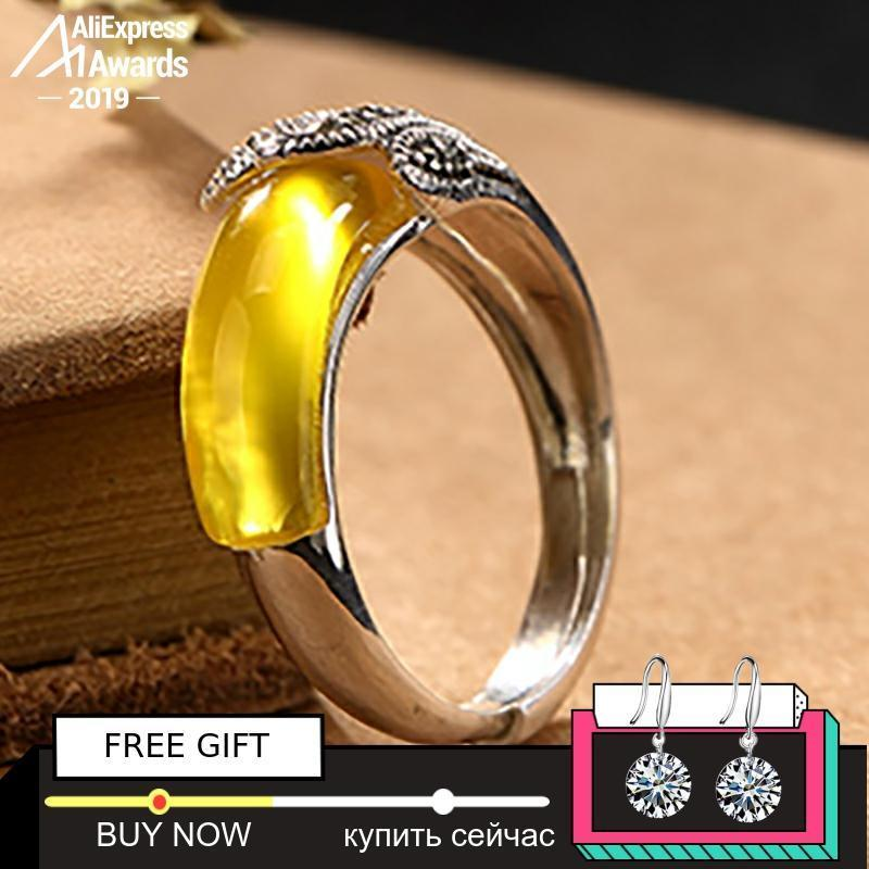 2020 Black Friday Amber Gemstone Not Fake Israel S925 Fine Antique Ring Sterling Silver Women Aristocrat Noble Natural Artisan Baltic V191220 From Huafei10 26 19 Dhgate Com