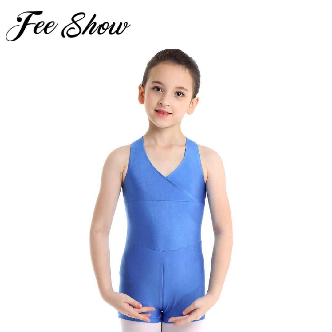 New Kids Girl O-Neck Short Sleeve Ballet Dance Leotard Dancewear Lace WST 03