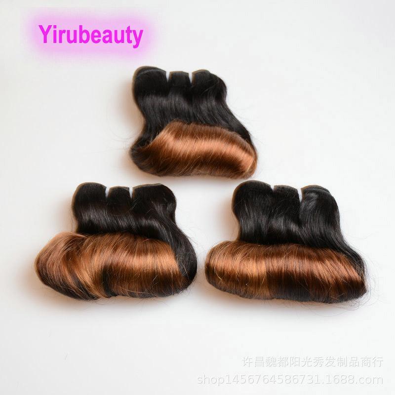 Brasilianisches Jungfrau-Menschenhaar Funmi Ombre Haar 1b / 30 Ombre Farbe 1B 30 Funmi lockige Haar-Verlängerungen 10-26inch 10A 12A