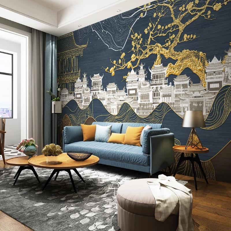 Custom 3d Luxury Photo Wallpaper Golden Line Landscape Plum Wallpaper Chinese Architecture Wall Mural Bedroom Living Room Tv Background Hd Wide Wallpaper Hd Widescreen Wallpapers For Desktop From Monkey Zabrina 13 47 Dhgate Com,What Is A Neutral Color Palette