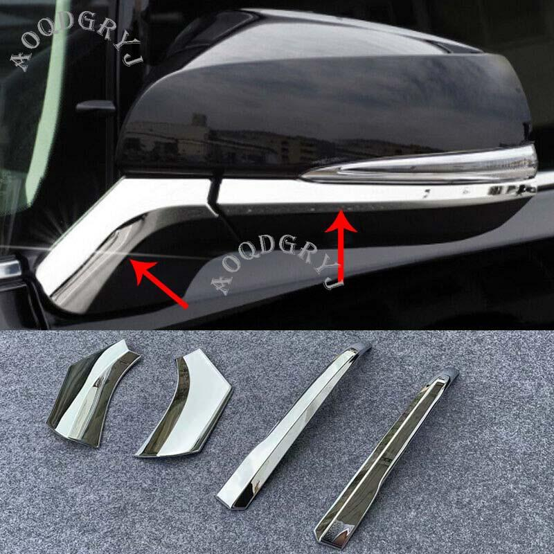 Car Styling Accessories ABS Chrome Rear View Side Mirror Molding Trim Strips 4PCS For Toyota RAV4 2019 2020