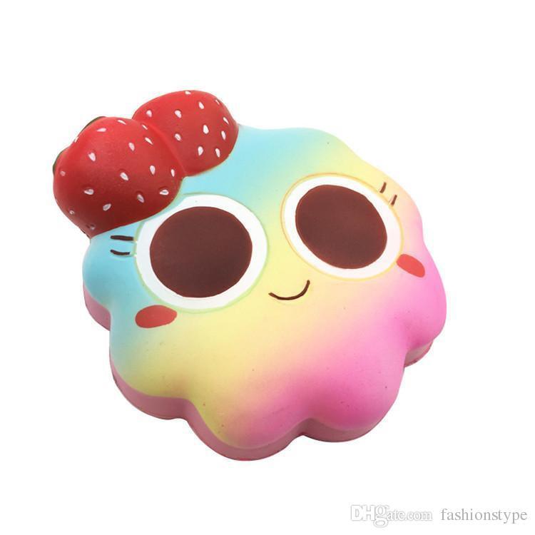 اسفنجي زهرة كعكة جودة عالية جامبو بطيئة ارتفاع لينة المعتاد ضغط الهاتف لعب قلادة مكافحة الإجهاد كيد الكرتون لعبة الضغط لعبة