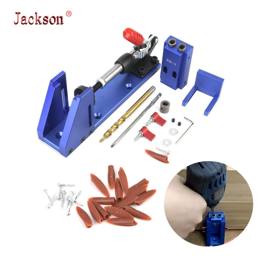 Professional Pocket Hole Jig Kit System Mini Drill Guide With 9.5mm Step Drill Bit HSS For DIY Woodworking Tools T200322