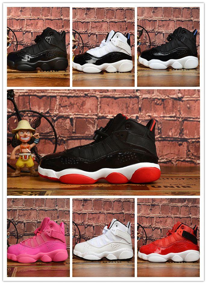 Enfants de Luxe Chaussures Designer Garçons Filles Enfants 6S 6 Rose Noir Or Bleu Blanc Rouge Chaussures de sport Chaussures de sport à vendre 28-35