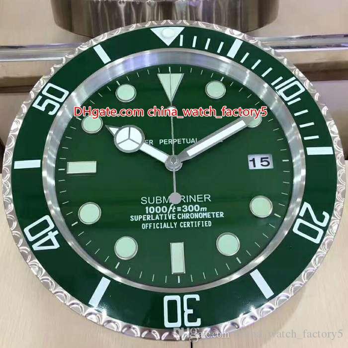 12 نمط جودة عالية العلامة التجارية ووتش ساعة الحائط ساعات 34CM س 5cm 1.5KG حركة كوارتز للنموذج 116710 116610 116681 ساعة الساعات ساعات