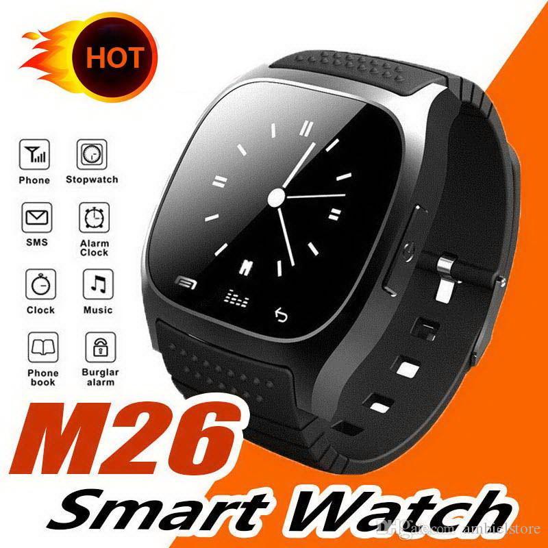 Мужские умные часы M26 с ЖК-экраном, анти-потерянный сигнал тревоги, шагомер, Спящий монитор, мода, умные часы для телефонов Android IOS