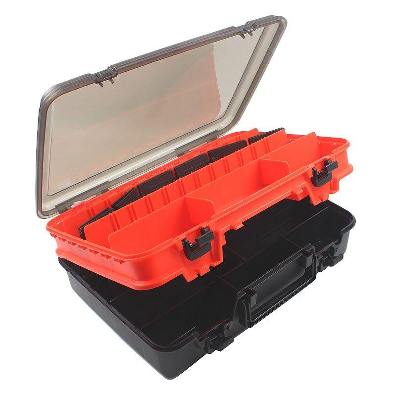 Pesca Waterproof caixa de equipamento de pesca Lure Colher Gancho Bait armazenamento caso Utility Box Carpa portáteis Acessórios Outdoor