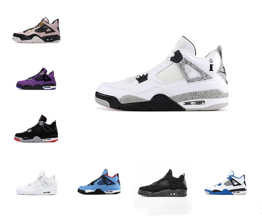 NUEVO BRED CAT BLACK CAT 4 4S Zapatillas de baloncesto Hombre Cemento blanco Encore Alas Fire Red Singles Retroes Sneakers IV Pure Money Trainer Sports Sports Shoe