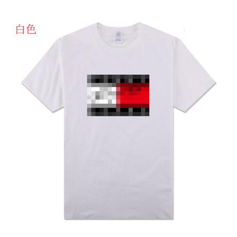 2020 hombres de alta calidad de manga corta de moda de verano camiseta casual cómodo cuello redondo camiseta ropa de moda BU3VBP78