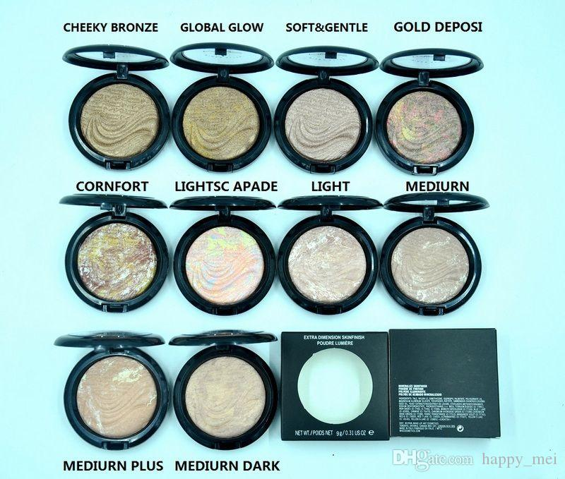 Factory Direct DHL Free Shipping New Makeup Face Extra Dimension Skinfinish Poudre Lumiere Face Powder!9g