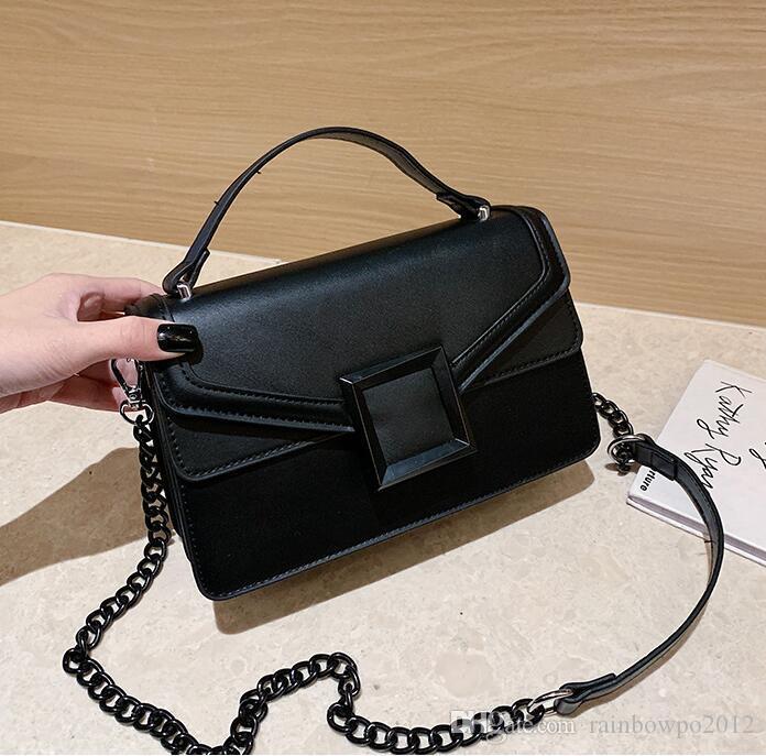 Fábrica atacado mulheres bolsa saco novo mulheres bag cor sólida cadeia de bloqueio quadrado decoração moda feminina estilo ocidental bolsa de couro mensageiro
